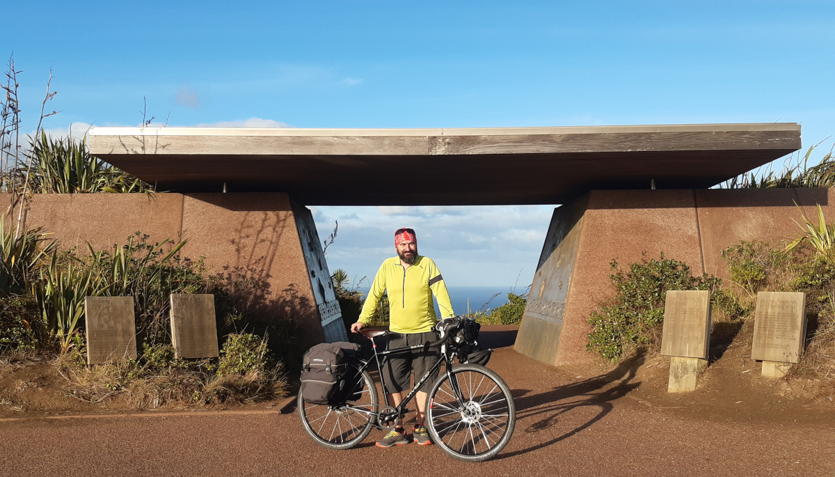 Tour Aotearoa 2020 - Marek Kuziel - At the start of my first bike tour.